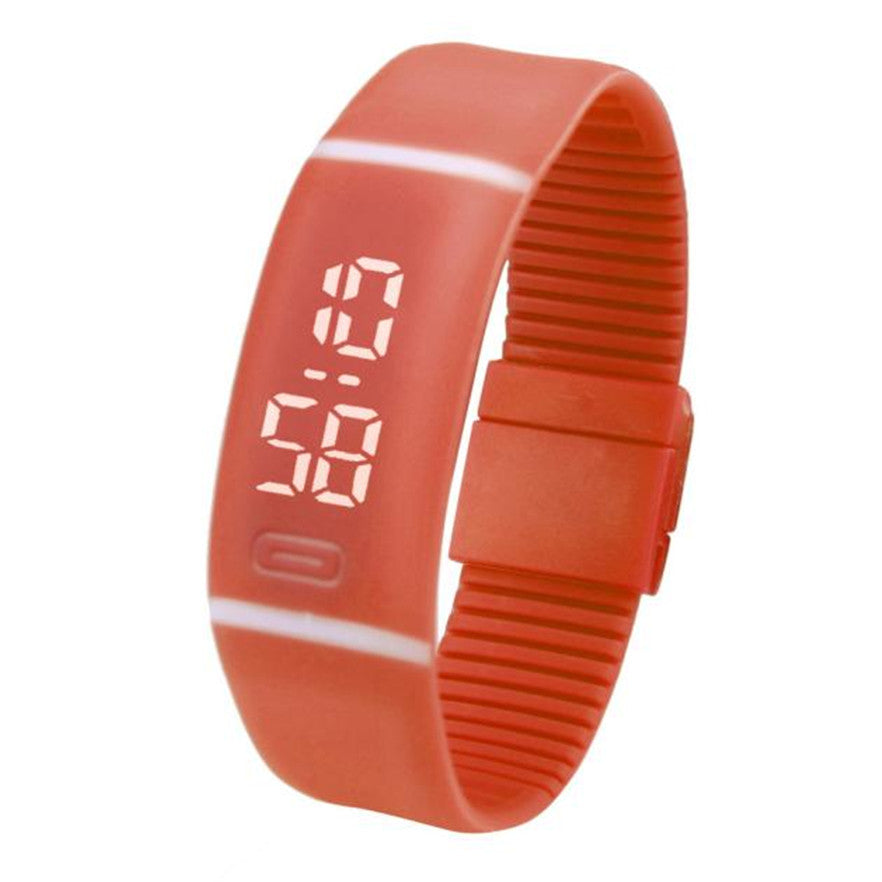 Costbuys  Sports Bracelet LED unisex Watch Men Watch Fashion Digital Watch Date Time Women Wristwatch Gift 1pcs - F