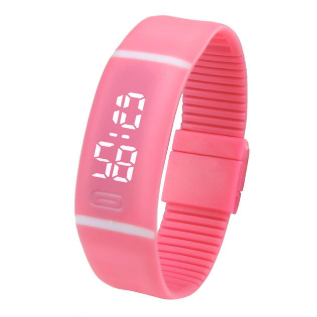 Costbuys  Sports Bracelet LED unisex Watch Men Watch Fashion Digital Watch Date Time Women Wristwatch Gift 1pcs - H