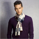 Autumn Winter Men Scarf Man's Wool Scarf Fashion Men Warm Scarves Plaid Casual Leisure Scarves