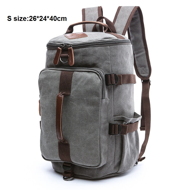 Costbuys  Canvas Men Luggage Bag Carry on Luggage Travel Bags Fashion Man Duffel Weekend Overnight Bag Women Travel Backpack Ruc