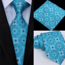 60 Styles Tie Set For Men Silk Tie Hanky Necktie Jacquard Woven 8cm Tie For Men Formal Wedding Party