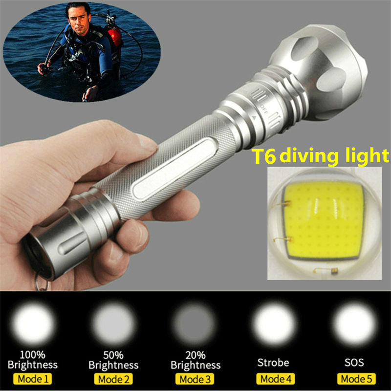 Costbuys  Diving lights XM-L T6 LED 3800Lm Diving Flashlight torch Waterproof Torch Diver Flash light For 2x 18650 battery