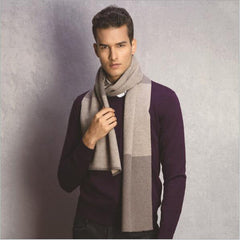 Fashion Men Scarf Man's Wool Scarf Autumn Winter Thicked Warm Long Scarves Wraps Patchwork Scarves