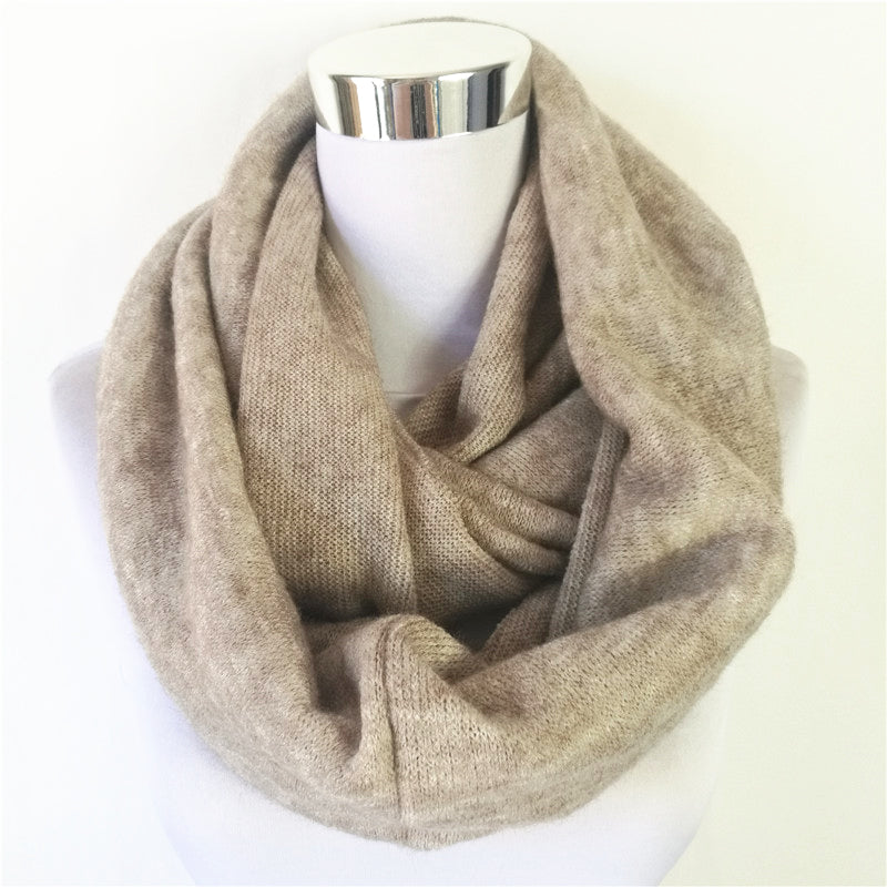 Unisex Women's Winter Circle scarves Cashmere Ladies Infinity Scarf Snood Scarves Wraps  Loop women scarf
