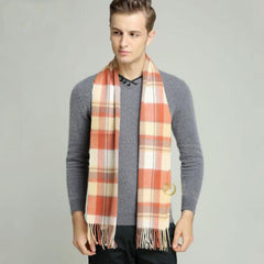 Fashion Winter Men Scarf Thicked Warm Man's Wool Scarf Men Plaid Scarf for Man Winter Autumn Scarf