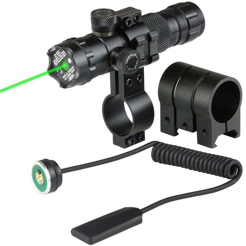 Costbuys  Green Red Dot Hunting Tactical Laser Mount Laser Sight Rifle Scope 20mm Rail & Barrel Mount Cap Pressure Switch - Red