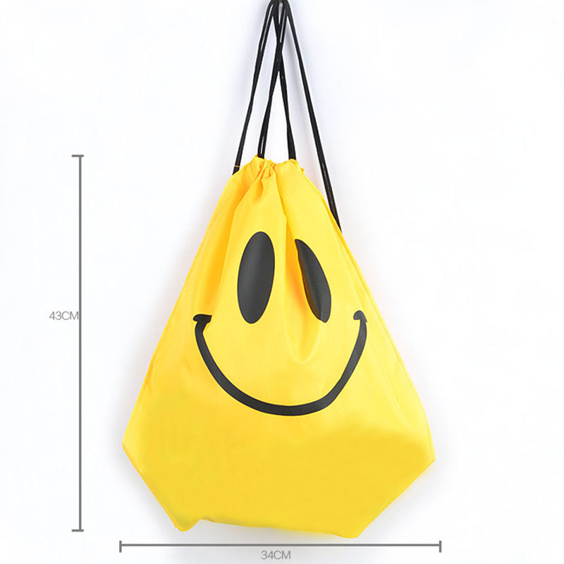 Costbuys  Gym Storage Bag Nylon Sports Drawstring Belt Riding Backpack Shoes Container Bag Clothes Organizer Waterproof - Yellow