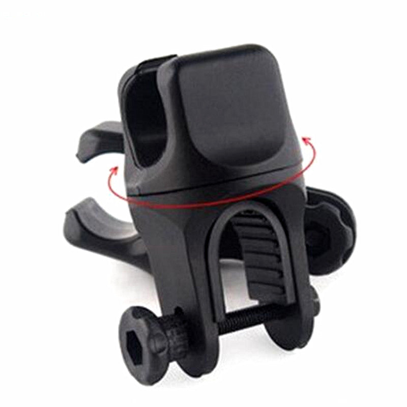 Costbuys  360 Degree Swivel Bike Bicycle Cycle Flashlight Torch Mount LED Head Front Light Holder Clip Rubber for Diameter 20-45