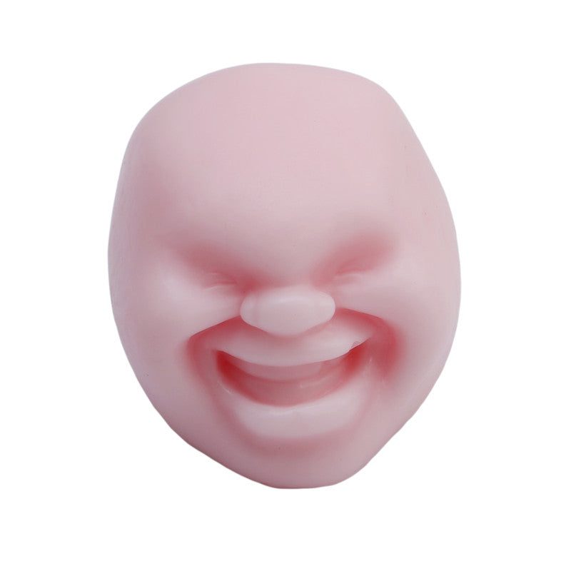 Costbuys  New Human Emotion Face Vent Ball Toys Resin Relax Pop Adult Novelty Toys Stress Relieving Anti-stress ball toys Gift -