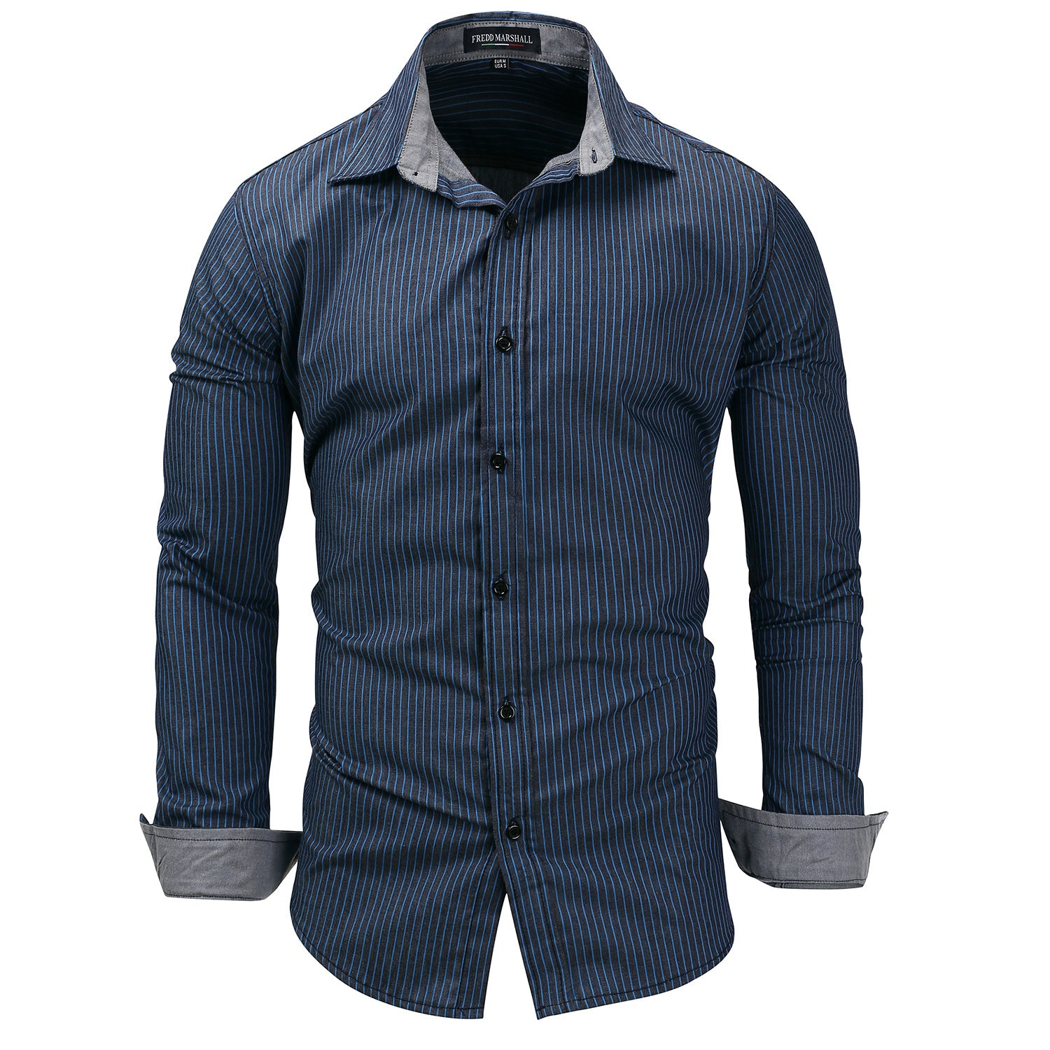 New Mens Striped Shirts Long Sleeve Cotton Shirt For Man Business