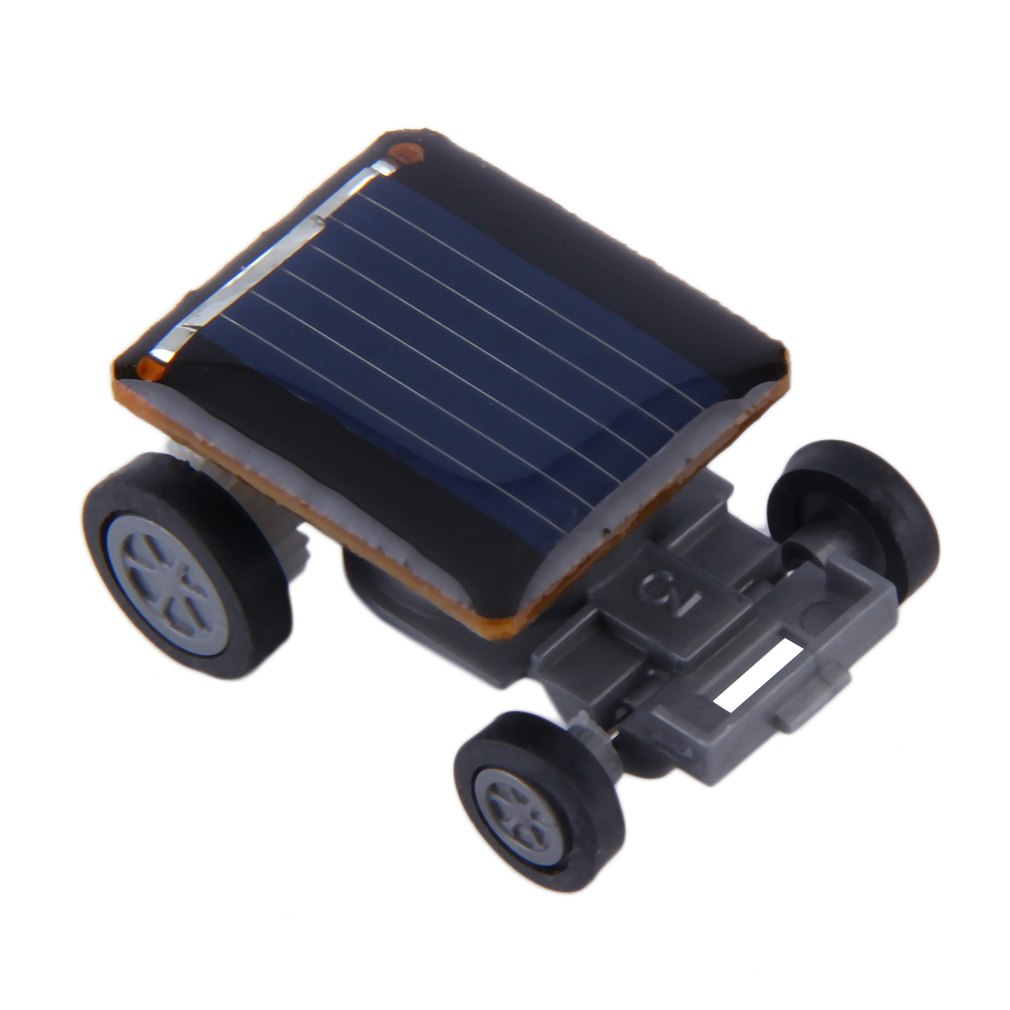 Costbuys  New Mini Solar Powered Racing Car Vehicle Educational Gadget Kids Gift Toy New - Black