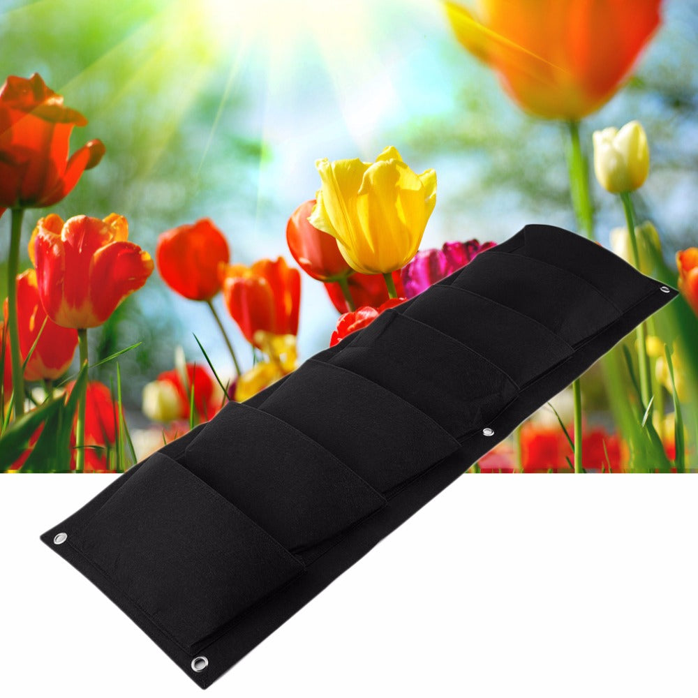 Costbuys  New Novelty Green Planting Flower Grow Bag Home Garden Planter Wall-mounted 7 Grids Vegetable Living Garden Home Suppl