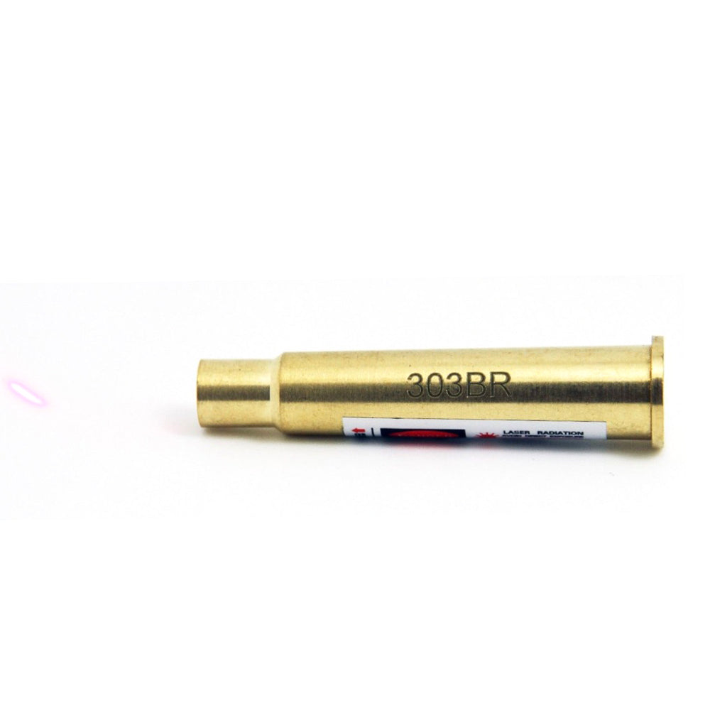 Costbuys  New Red Dot Bore Sight Laser Sighter 303BR Sight Boresight .303 Brass for Rifle Scope - Gold