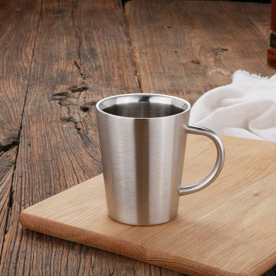 Costbuys  Rose Gold 13oz 304 Stainless Steel Coffee Mug Double Wall Beer Mugs Cups For Coffee Milk Tea Tankard Stein Kitchen Too