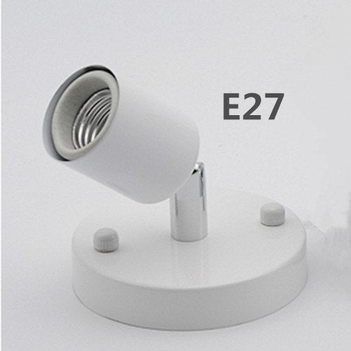 Costbuys  Rotatable E27 / E14 lamp holder Wall Mounted Lamp Socket For Living Room Bedroom Dinning Room Bar lighting accessories