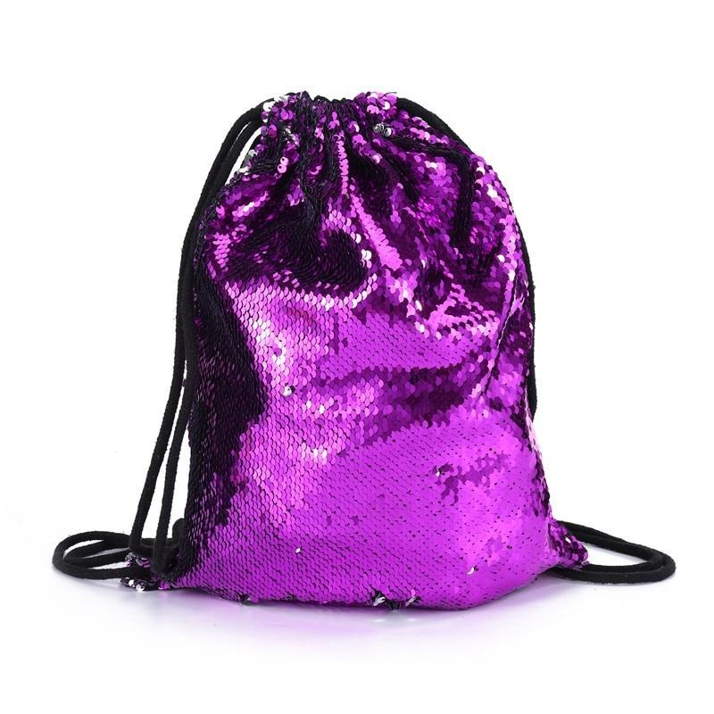 New Sequins Canvas Backpack Women Leisure School Bags Causal Travel Backpack For Teenage Girls Back Pack Rucksack Schoolbag