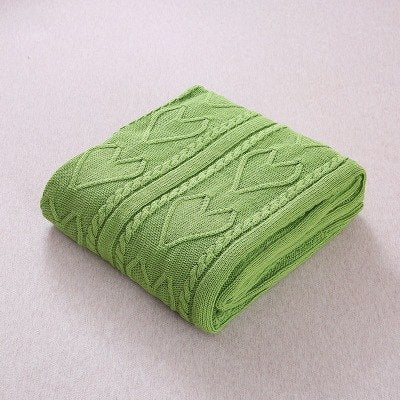 Costbuys  Soft Blankets for Beds Bedspread Bedding Knitting Heart Patterns Blanket Air Conditioning Comfy Sleeping Bed Bedspread