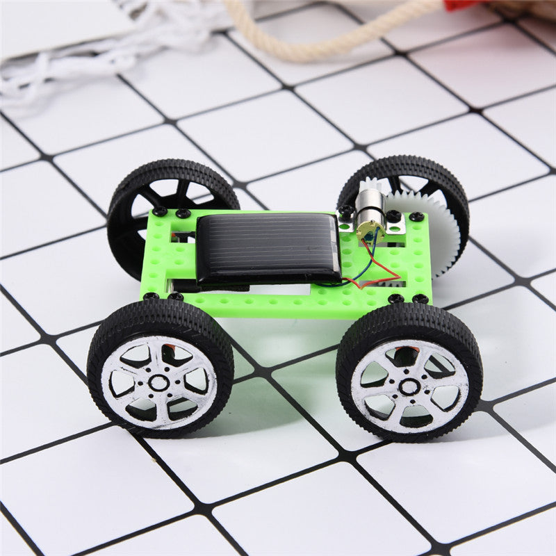 Costbuys  New Solar Power Mini DIY Assembled Intelligence Toy Children's Toy Car Outdoor Decoration Home Christmas Gifts For Chi