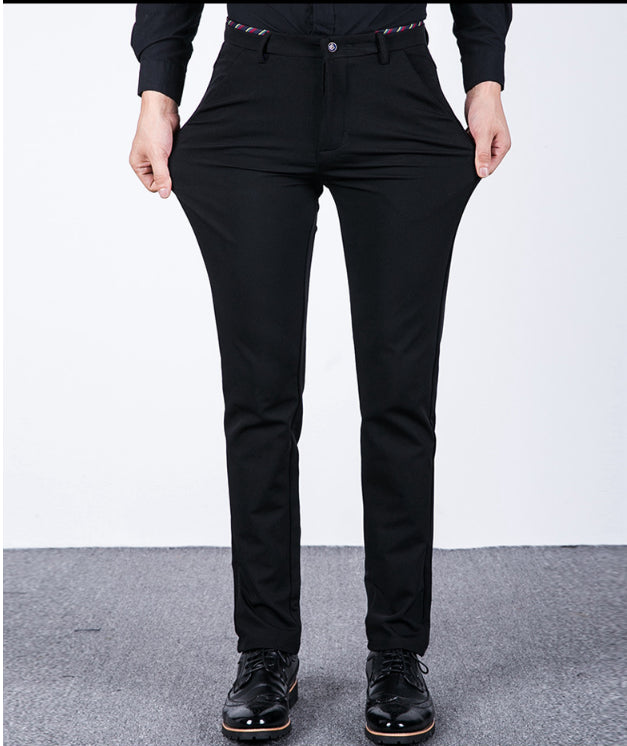 7f9dc2d5389 Spring Summer men s High-Stretch Business Casual Pants Male Anti-Wrinkle  Straight Slim Casual