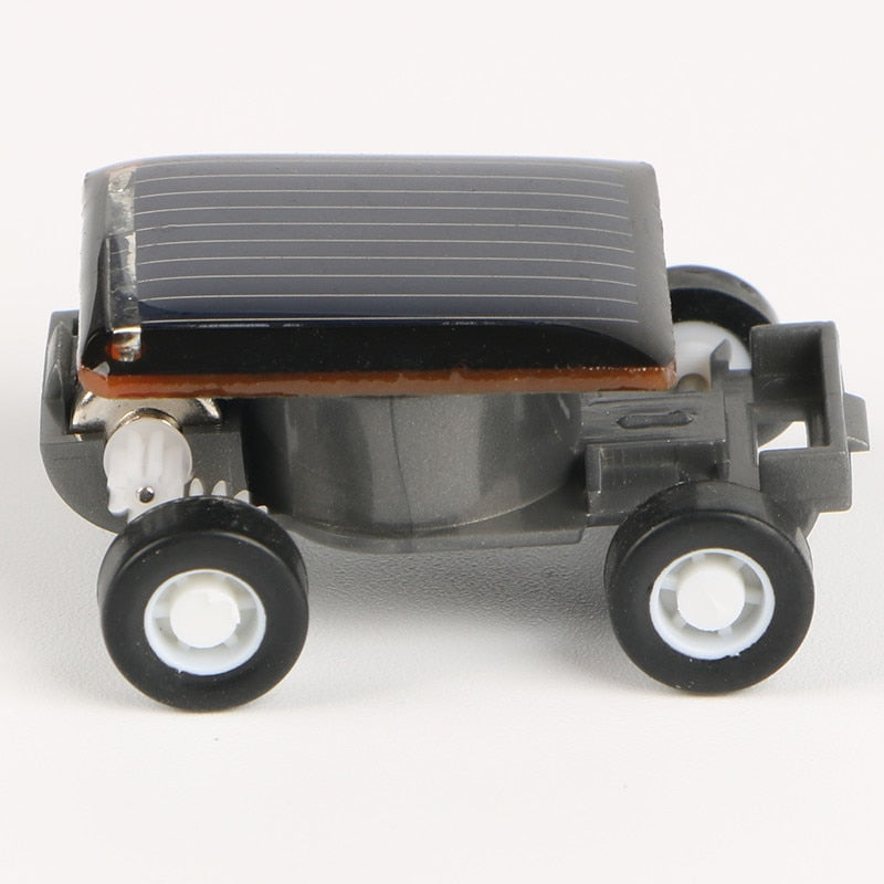 Costbuys  New Strange Black Creative Smallest Mini Solar Powered Car Model Solar Toys Kit Gadgets Educational Baby Kids Toys for