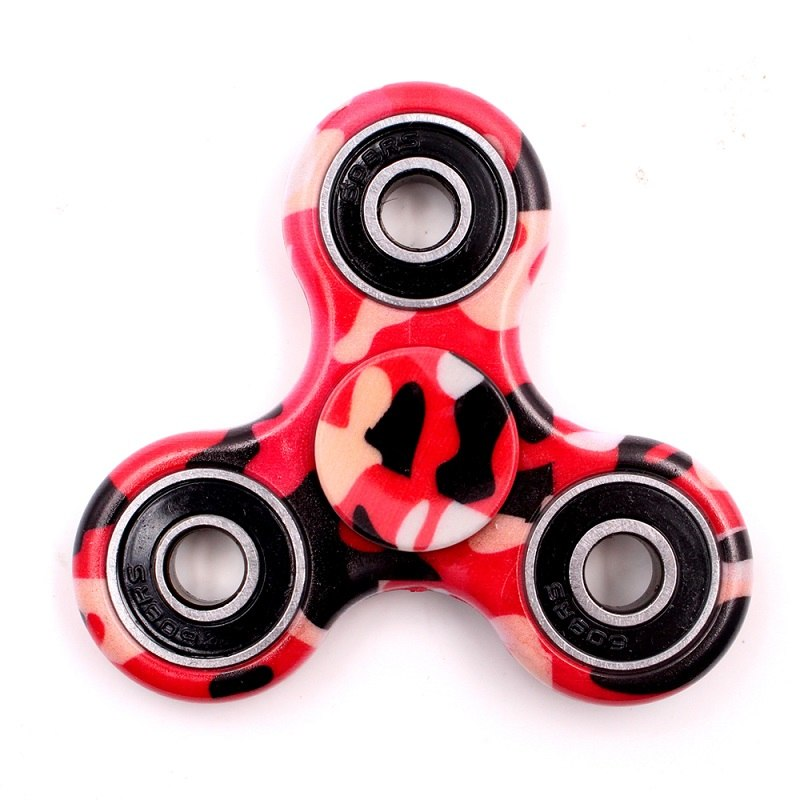 Costbuys  Tri-Spinner Fidget Toy Plastic Stress Wheel EDC Anti-Stress Hand Spinner Handspinner For Autism and antistress,finger