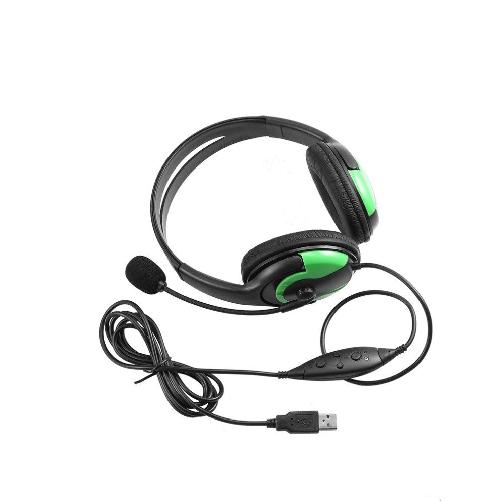 Wired Headset Headphone Earphone Microphone For PS3 Gaming PC Chat In stock!