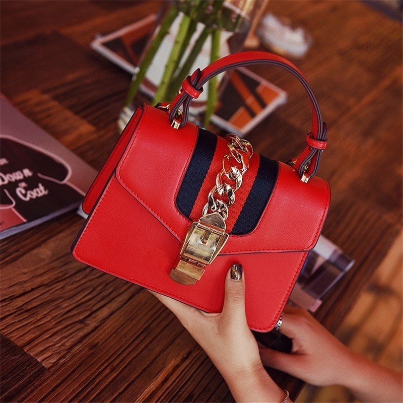 Costbuys  New Women Famous Crossbody Bag European Fashion Panelled Colors Strap Ladies Shoulder Evening Top-handle Bags Girl Han