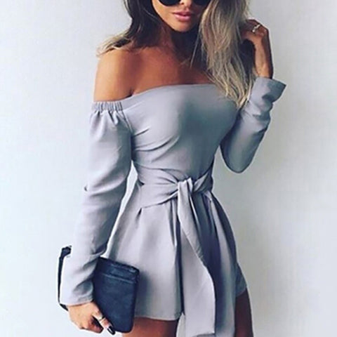 New Winter Women Two Piece Bodycon Jumpsuit Knee Length Long Sleeve Black Playsuit Sexy Club Elegant Rompers And Jumpsuits
