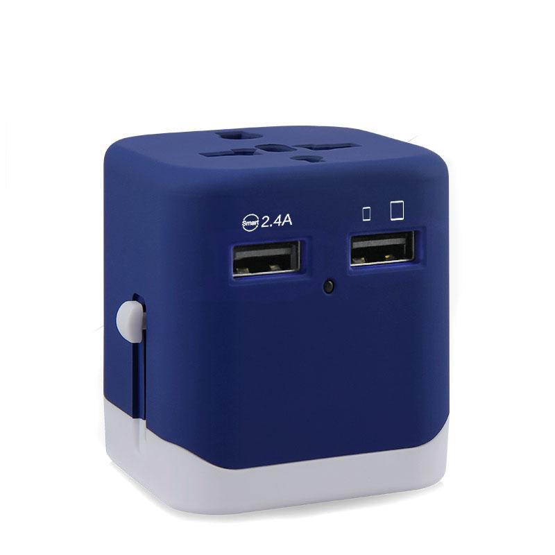 Costbuys  New design Electronic Gadgets Smart IC Travel Adapter Plug Socket USB charger with Dual USB Ports - Universal Plug / B