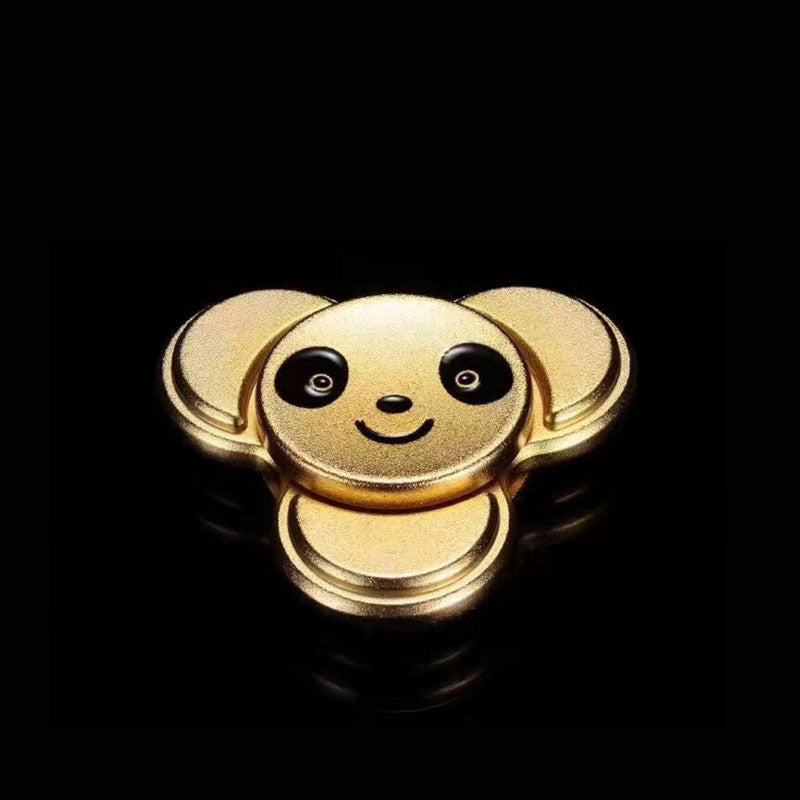Costbuys  New style Kung Fu Panda Fidget Spinner 4color Metal Hand Spinner Reduce Stress and Increase Attention Stress - random