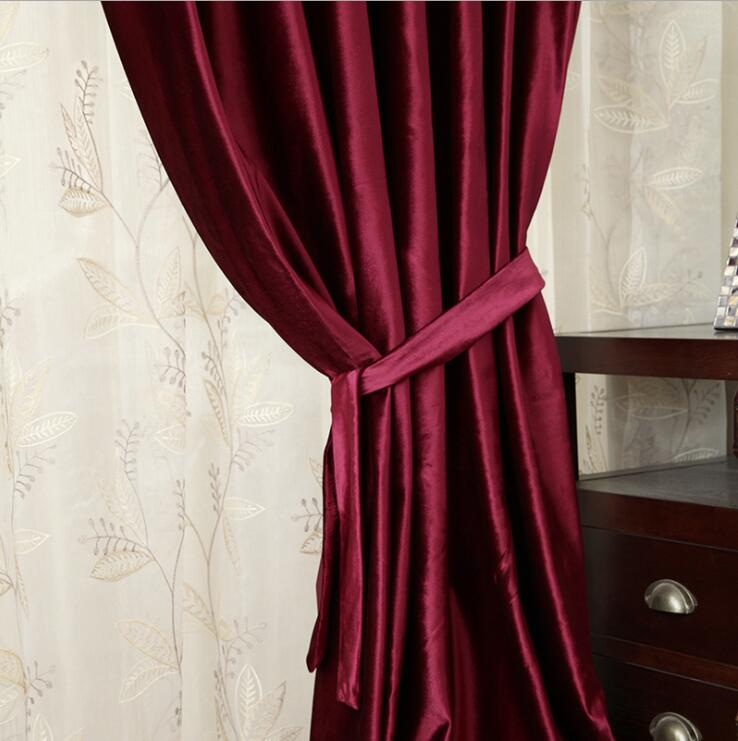 Costbuys  New velvet blinds shinny fabric curtain for livingroom silver black out custom size shade american style for bedroom -