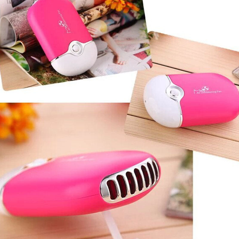 Costbuys  Newest Portable Hand held USB Gadgets Air Conditioning Fan USB Rechargeable Mini Fan Lithium Battery Portable Cooling