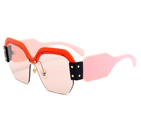 43fe1f07a2 Newest Semi-Rimless Sunglasses Women Brand Designer Clear Lens Sun Gla –  Costbuys