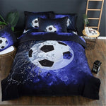 Football Printed Bedding Sets Duvet Cover 3pcs Bed Set Single Twin Double Queen size Bed linen Bedclothes