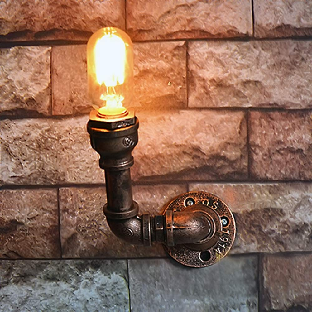 Costbuys  Nordic Loft Style Industrial Water Pipe Lamp Vintage Wall Light For Home Antique Bedside Edison Wall Sconce Indoor Lig