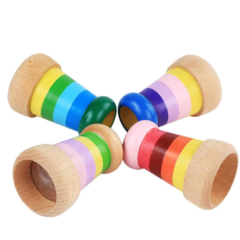 Costbuys  Novelty Baby Kids Wooden Magic Kaleidoscope Children Educational Learning Puzzle Toys Gifts Baby Classic Toys