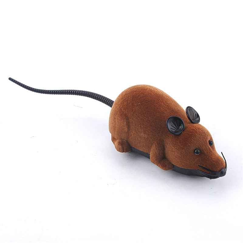 Costbuys  Novelty Funny RC Wireless Remote Control Rat Mouse Toy For Cat Dog Pet For Children Kids Baby - send color randomly