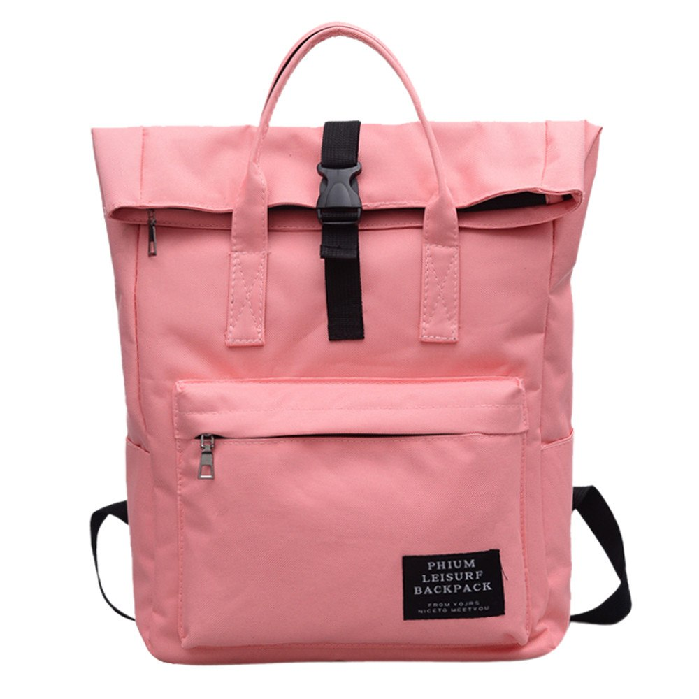 Costbuys  Nylon Backpack Travel Backpack Women School Backpacks Waterproof Backpacks Anti Theft Rucksack Casual Daypack - Pink /