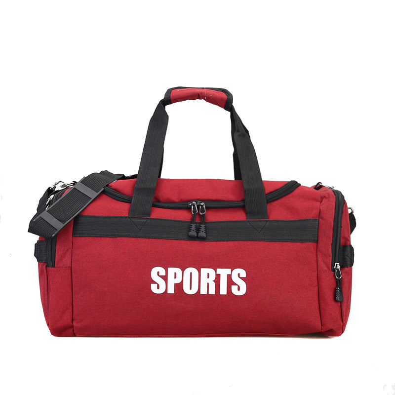 Costbuys  Nylon Outdoor Gym Sports Bag Fitness Shoulder Bag Duffe Gym Yoga Travel Backpack Outdoor Rjugzak Sport Bag - Red