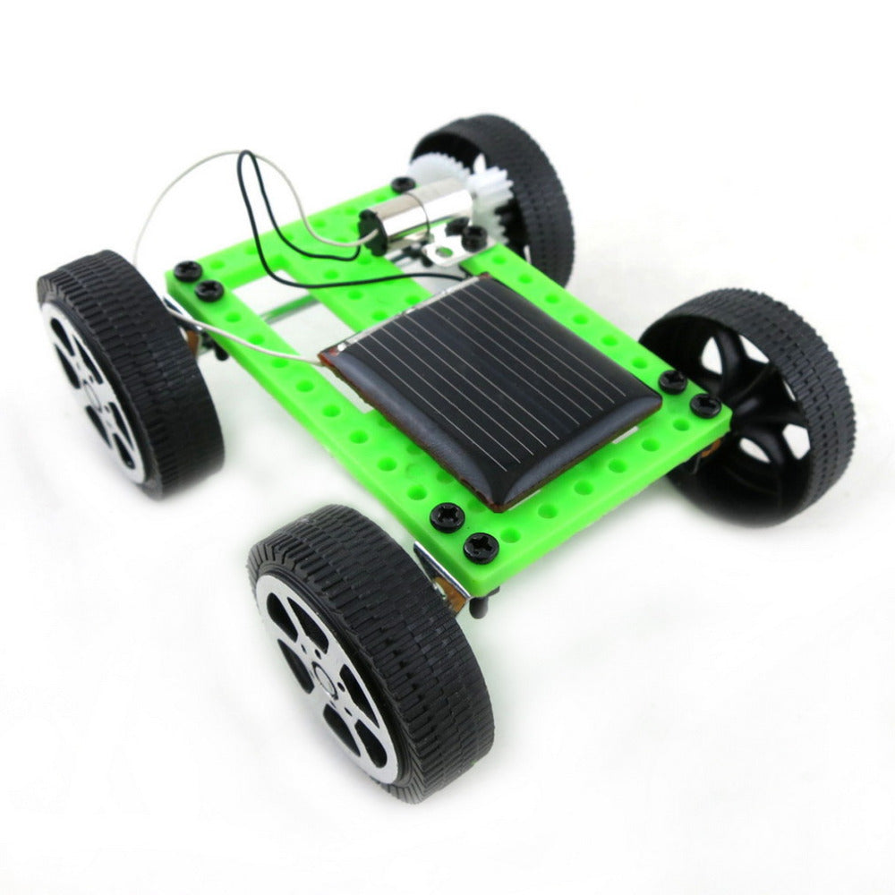 Costbuys  10pcs Mini Solar Powered Toy DIY Car Kit Children Educational Gadget Hobby Funny New Sale
