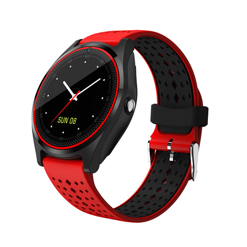 Costbuys  Women Smart Watch with Camera Bluetooth Smartwatch SIM Card Wristwatch for Android Phone Wearable Devices Clock New V9
