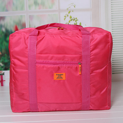 Costbuys  Fashion WaterProof Travel Bag Large Capacity Bag Women Oxford Folding Bag Unisex Luggage Travel Handbags - Rose2
