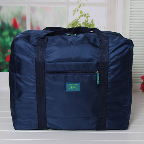 Costbuys  Fashion WaterProof Travel Bag Large Capacity Bag Women Oxford Folding Bag Unisex Luggage Travel Handbags - Navy