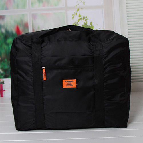 Costbuys  Fashion WaterProof Travel Bag Large Capacity Bag Women Oxford Folding Bag Unisex Luggage Travel Handbags - Black