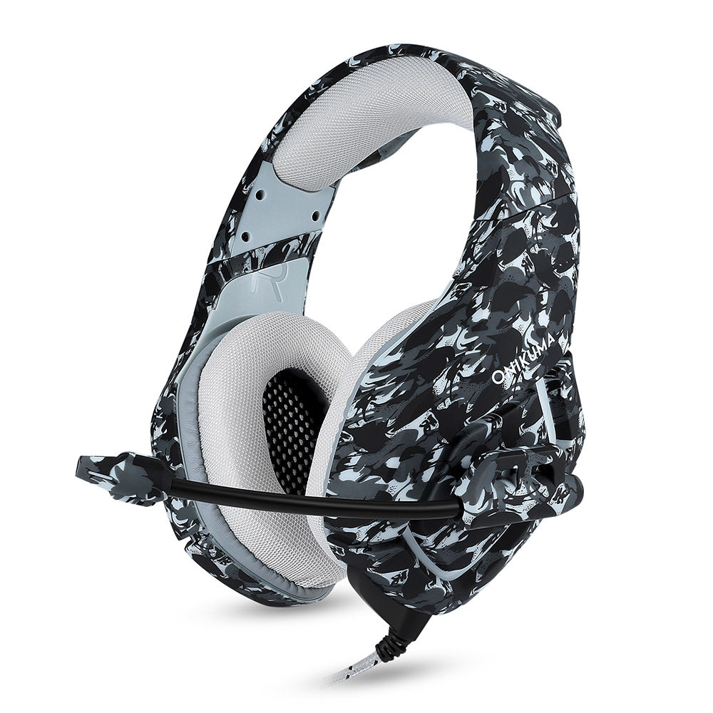 Costbuys  K1 Bass Gaming Headphones Stereo Game Earphones Camouflage Headset Casque with Mic for PC Mobile Phone Xbox One Tablet