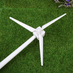 Desktop Wind Turbine Model Solar Powered Windmills ABS Plastics White For Education Or Fun Figurines Miniatures