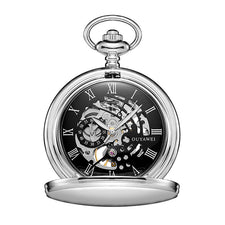 Antique Skeleton Mechanical Pocket Watch Men Chain Necklace Business Casual Fallout Pocket & Fob Luxury watches clock
