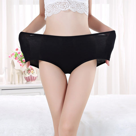 3pcs/lot new fashion bamboo fibre plus big size panties seamless panty women big size briefs high waist ladies' underwear