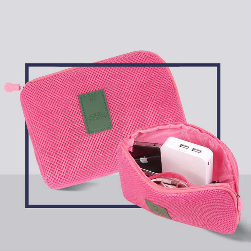 Costbuys  Organizer System Kit Case Portable Storage Bag Digital Gadget Devices USB Cable Earphone Pen Travel Cosmetic Insert -