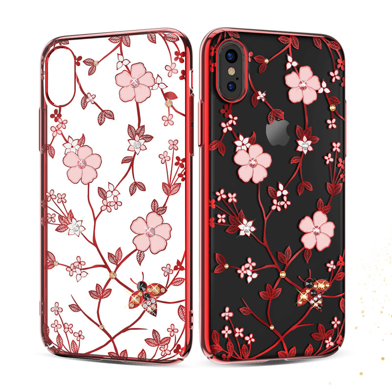 Original KAVARO Diamond Case For iPhone X Fundas Flower Phoenix Hard Cover For iPhone X Case Luxury Coque Cell Phone Accessories